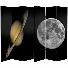 6 ft. Tall Double Sided Moon/Saturn Room Divider