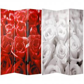 6 ft. Tall Double Sided Bouquet of Roses Room Divider