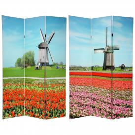6 ft. Tall Double Sided Windmills Room Divider