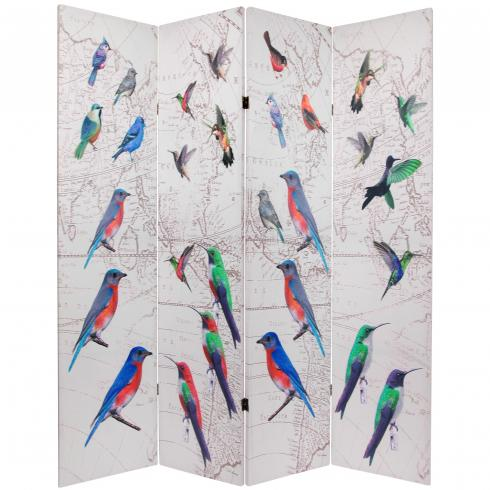 6 ft. Tall Double Sided Birds Room Divider
