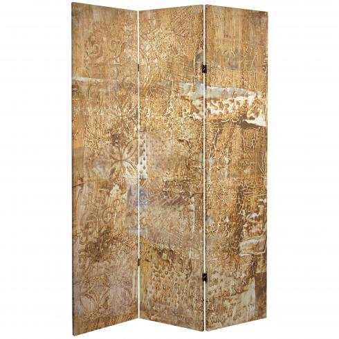 6 ft. Tall Double Sided Sandy Meadow Canvas Room Divider