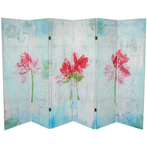 5¼ ft. Spring Morning Canvas Room Divider