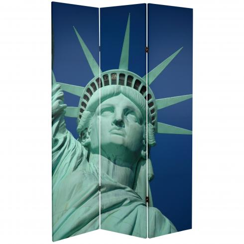 6 ft. Tall Double Sided Liberty Canvas Room Divider
