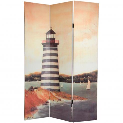 6 ft. Tall Lighthouses Canvas Room Divider