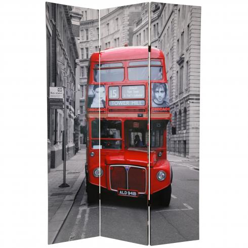 6 ft. Tall Double Decker Bus Room Divider