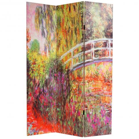6 ft. Tall Double Sided Works of Monet Canvas Room Divider