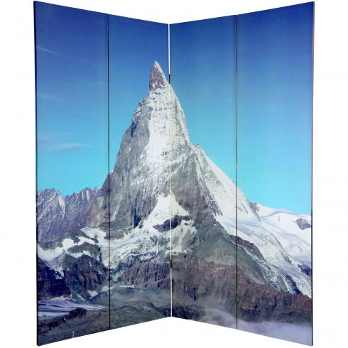 6 ft. Tall Double Sided Matterhorn/Everest Canvas Room Divider