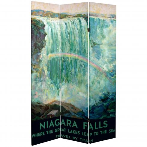 6 ft. Tall Double Sided Niagara Falls Room Divider
