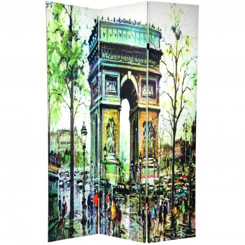 6 ft. Tall Double Sided Paris Room Divider