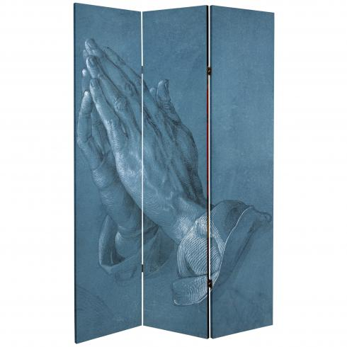 6 ft. Tall Double Sided Prayer Canvas Room Divider