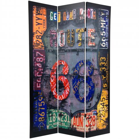 6 ft. Tall Double Sided Americana Room Divider
