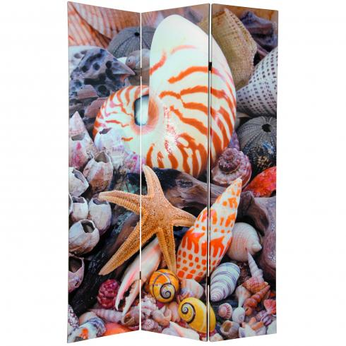 6 ft. Tall Double Sided Seashells Room Divider