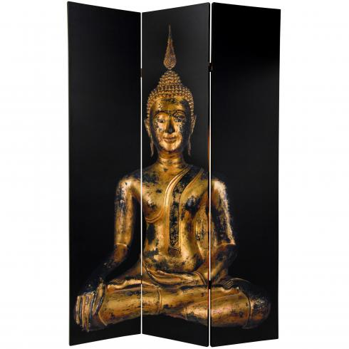 6 ft. Tall Double Sided Thai Buddha Room Divider
