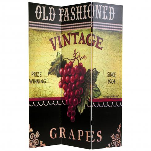 6 ft. Tall Grapes and Cherries Canvas Room Divider