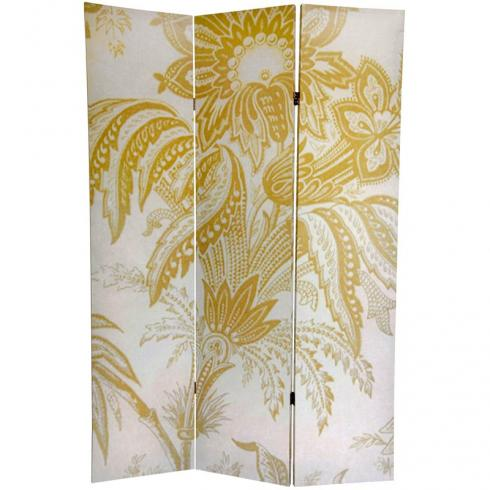 6 ft. Tall Gold Toile Double Sided Room Divider