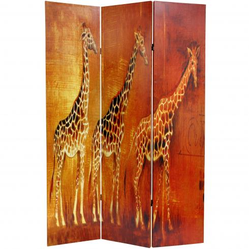 6 ft. Tall Giraffe & Elephant Room Divider
