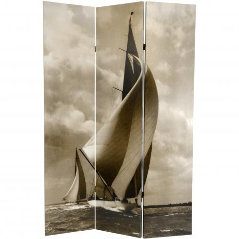 6 ft. Tall Sailboat Double Sided Room Divider