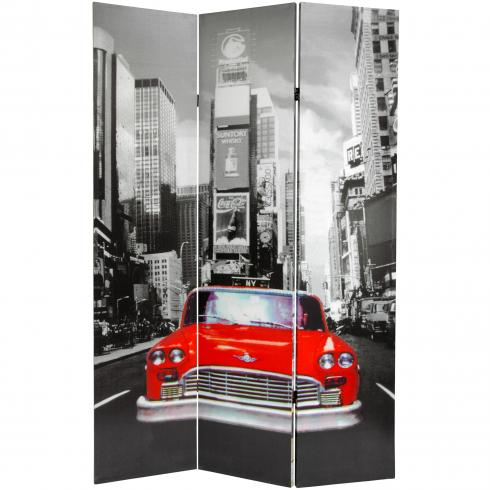 6 ft. Tall New York City Taxi Double Sided Room Divider