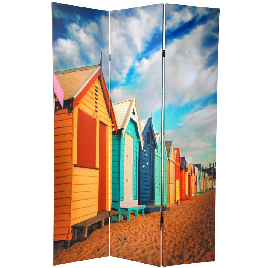 6 ft. Tall Double Sided Beach Cabana Room Divider