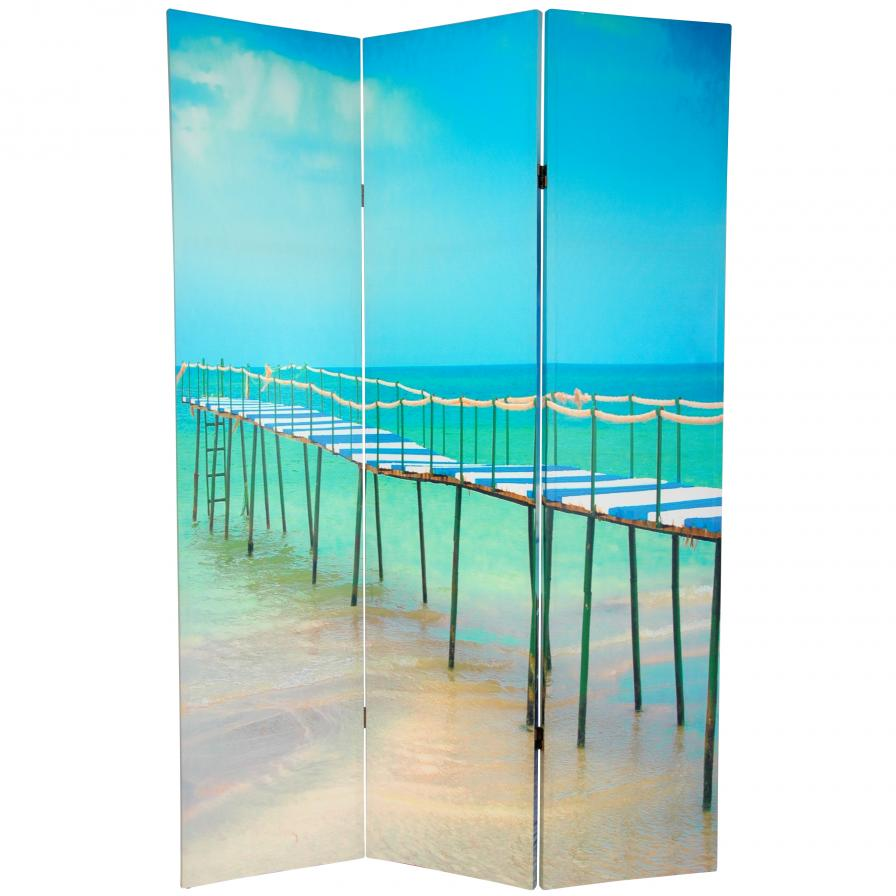 6 ft. Tall Double Sided Ocean Room Divider