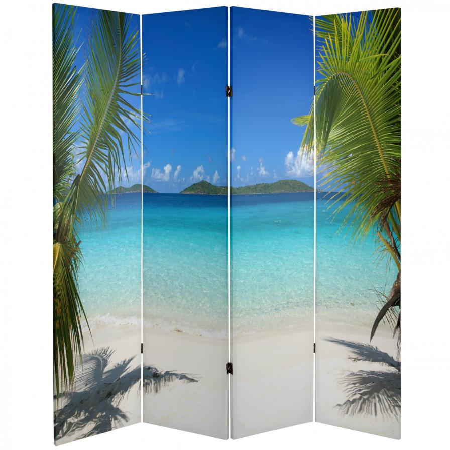 6 ft. Tall Double Sided Beach Room Divider