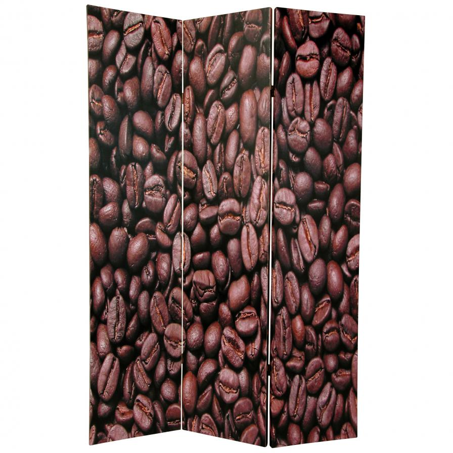 6 ft. Tall Double Sided Coffee Beans Room Divider