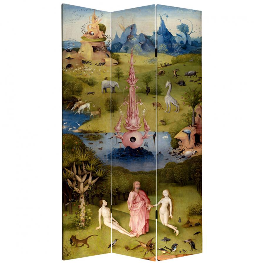 7 ft. Tall Double Sided Garden of Delights Canvas Room Divider