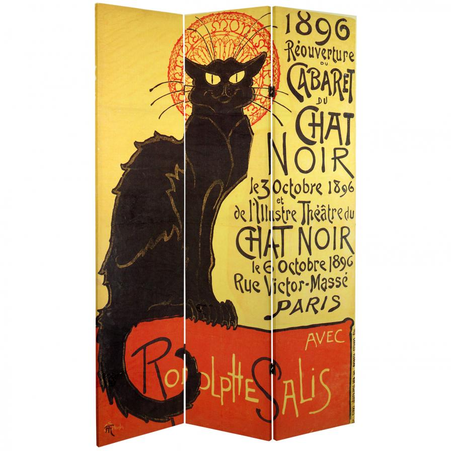 6 ft. Tall Double Sided Chat Noir Room Divider