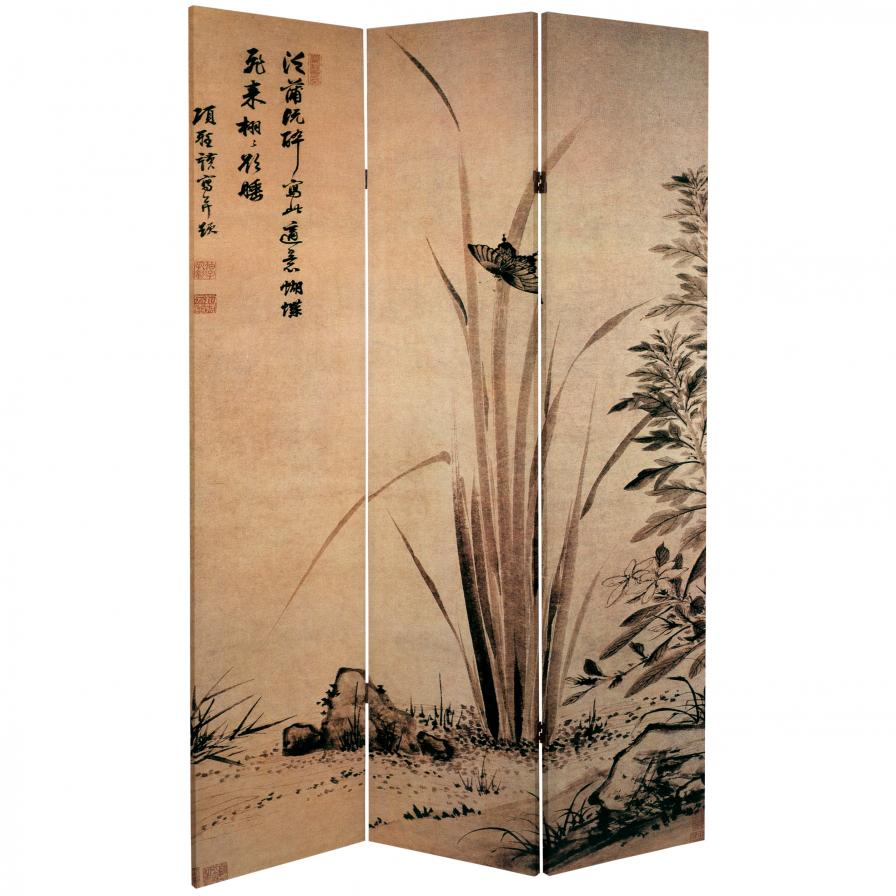 6 ft. Tall Double Sided Cranes Room Divider