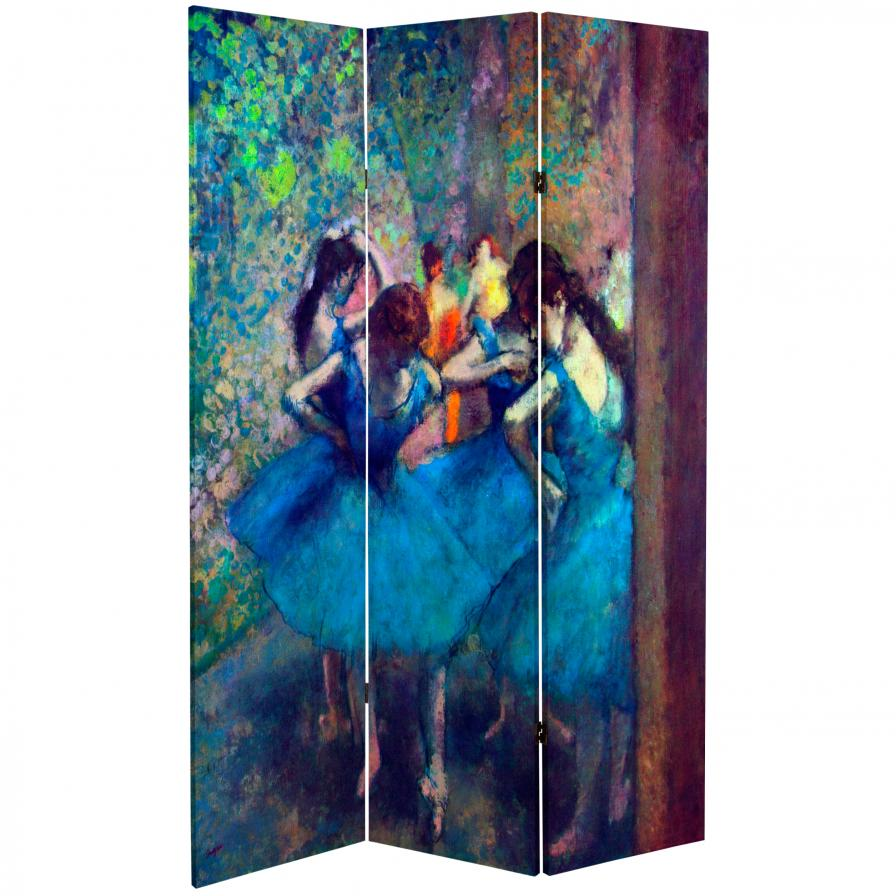 6 ft. Tall Double Sided Works of Degas Room Divider - Dancers