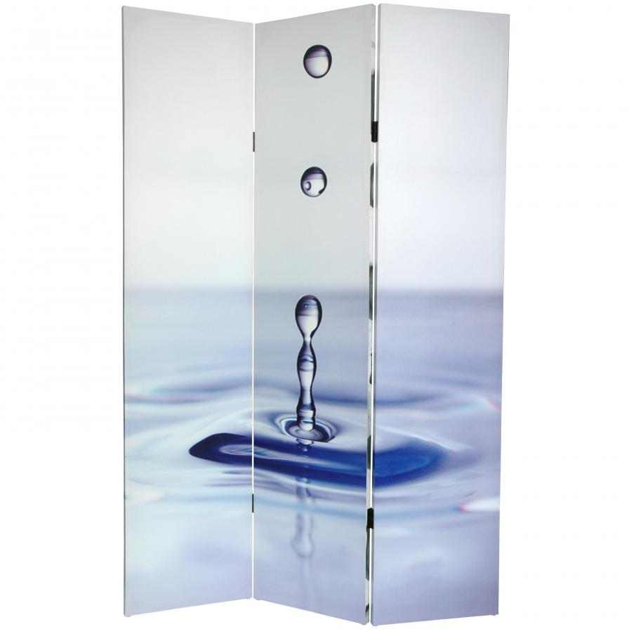 6 ft. Tall Double Sided Water Zen Canvas Room Divider
