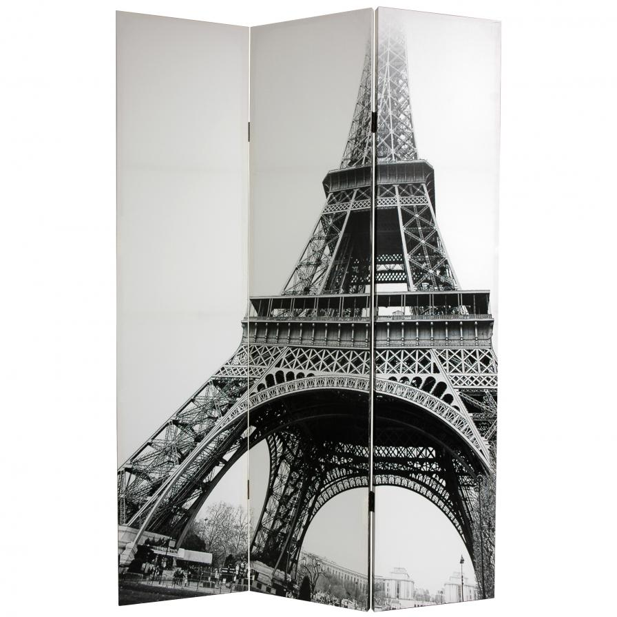 6 ft. Tall Eiffel Tower Canvas Room Divider