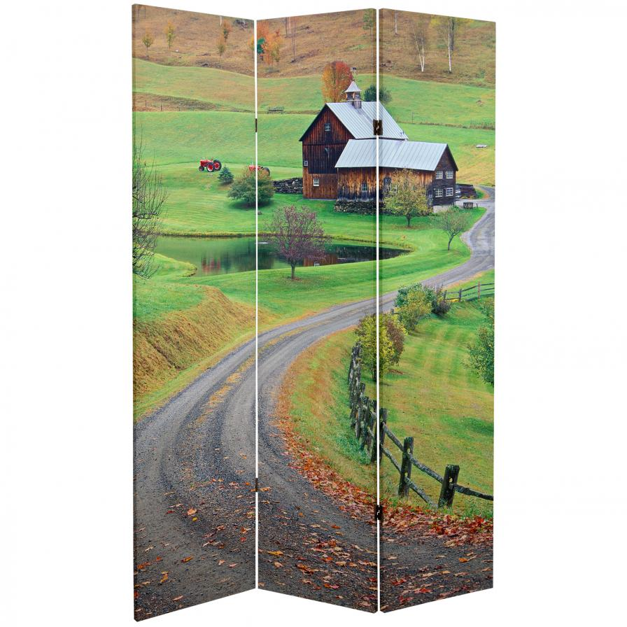 6 ft. Tall Double Sided Rural Beauty Room Divider