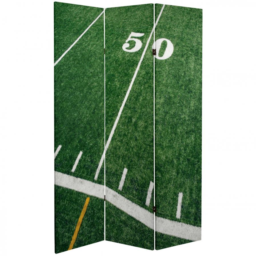 6 ft. Tall Football Canvas Room Divider