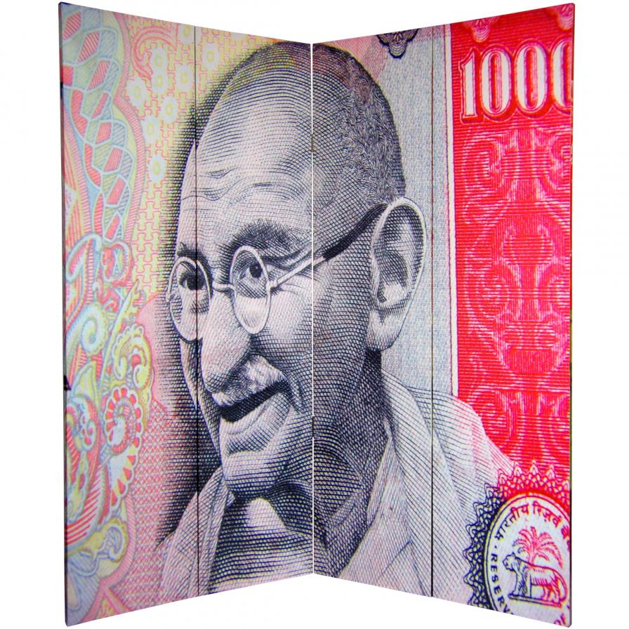 6 ft. Tall Double Sided Gandhi Room Divider