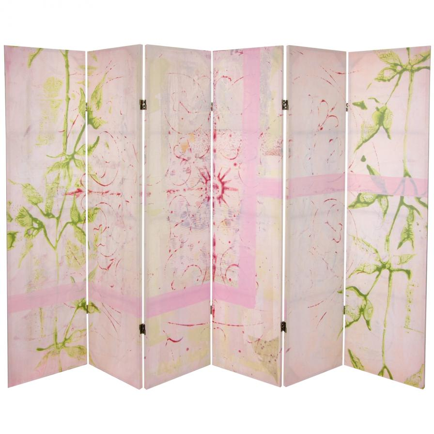 5¼ ft. Pink Harmony Canvas Room Divider
