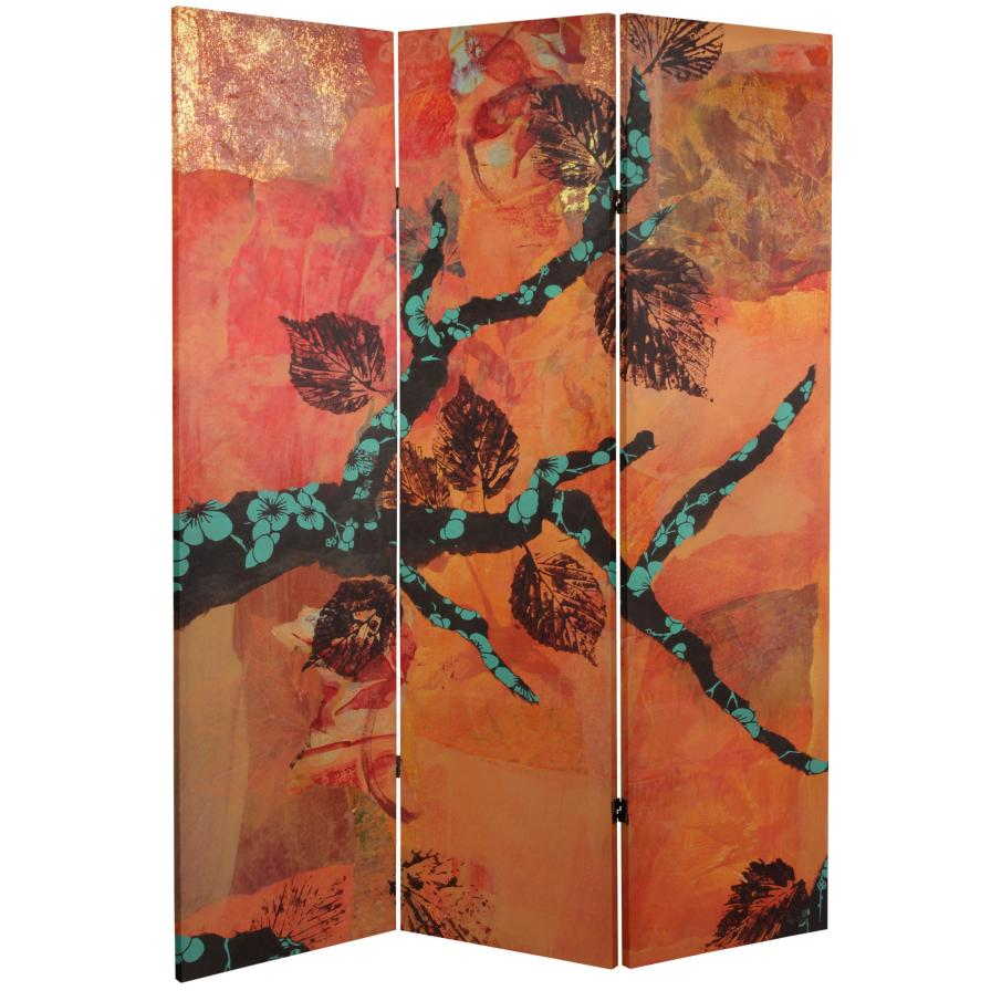 5 ft. Tall Rich Autumn Canvas Room Divider