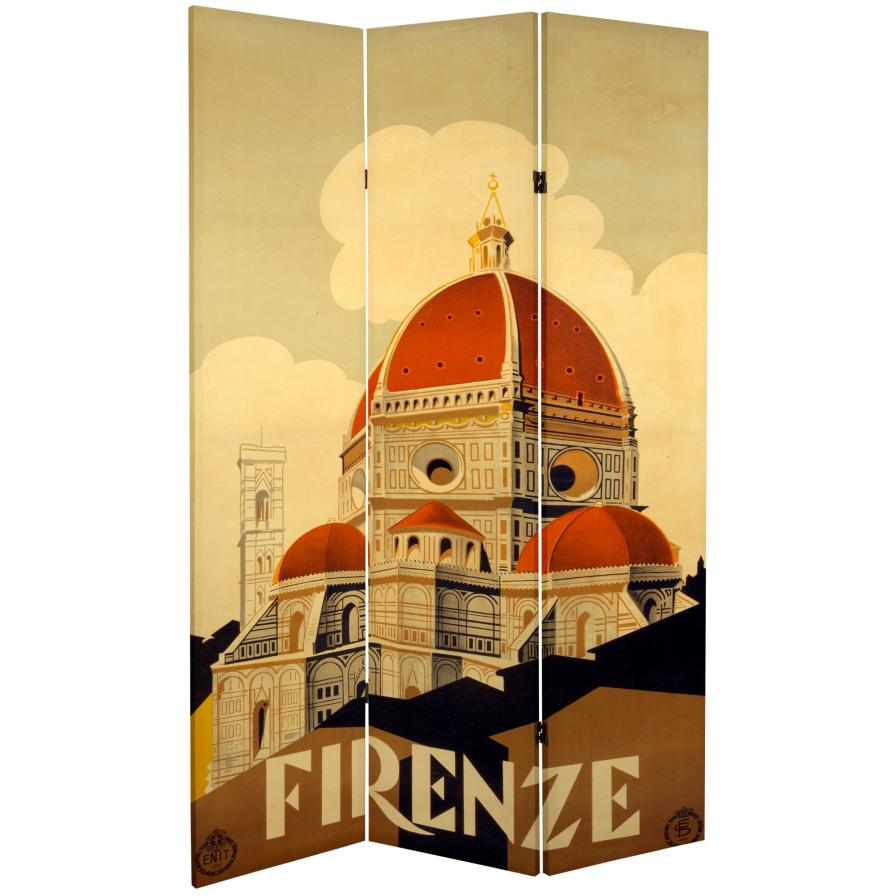 6 ft. Tall Double Sided Rome/Firenze Room Divider