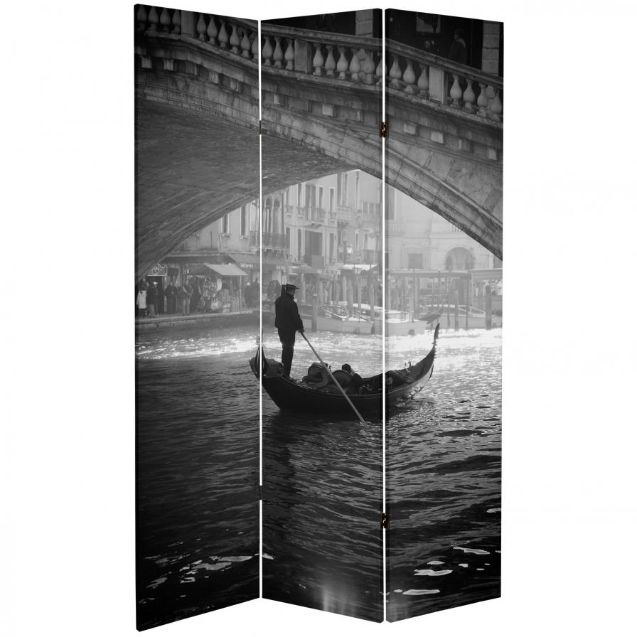 6 ft. Tall Double Sided Coliseum and Canal Room Divider
