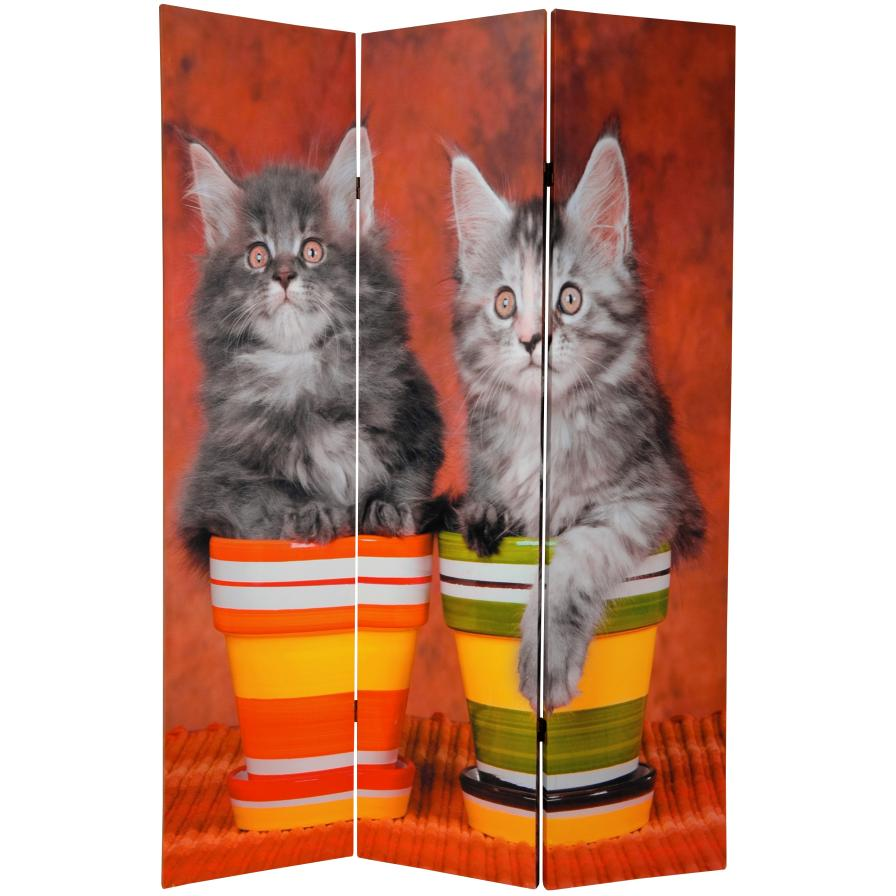 6 ft. Tall Double Sided Kittens Room Divider