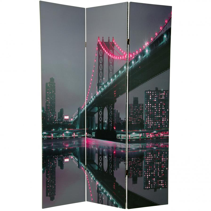 6 ft. Tall New York State of Mind Room Divider