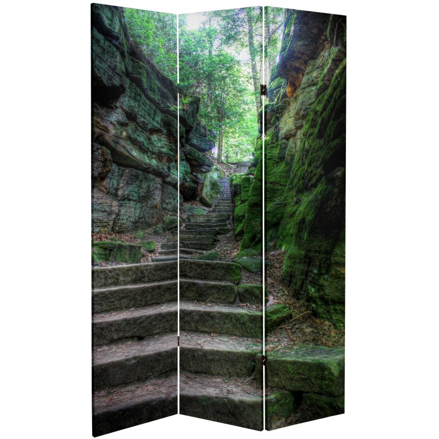 6 ft. Tall Double Sided Trail of Joy Canvas Room Divider