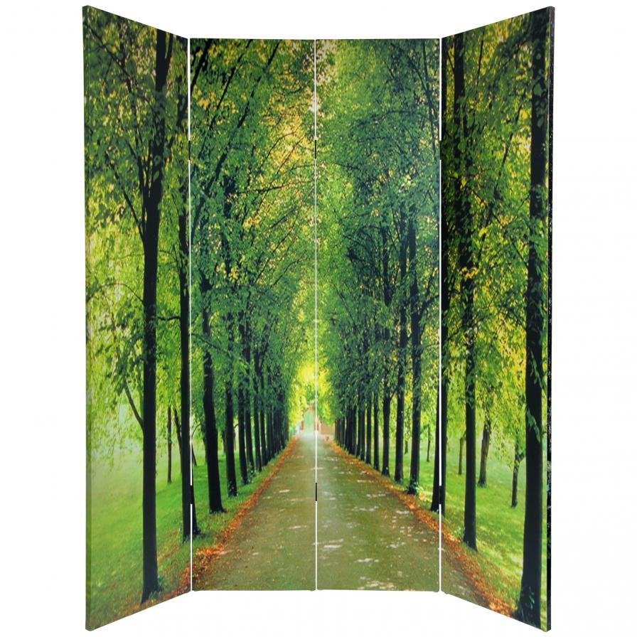 6 ft. Tall Double Sided Path of Life Canvas Room Divider