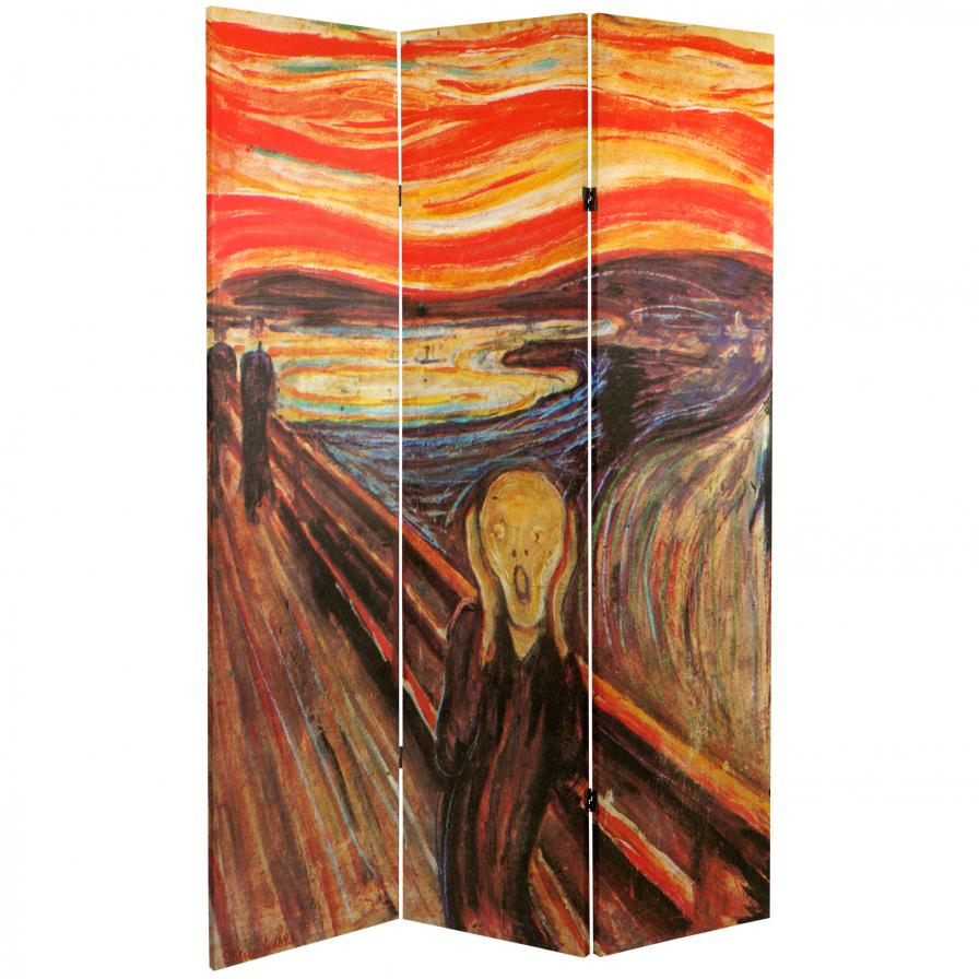 "6 ft. Tall Double Sided ""The Scream"" Room Divider"