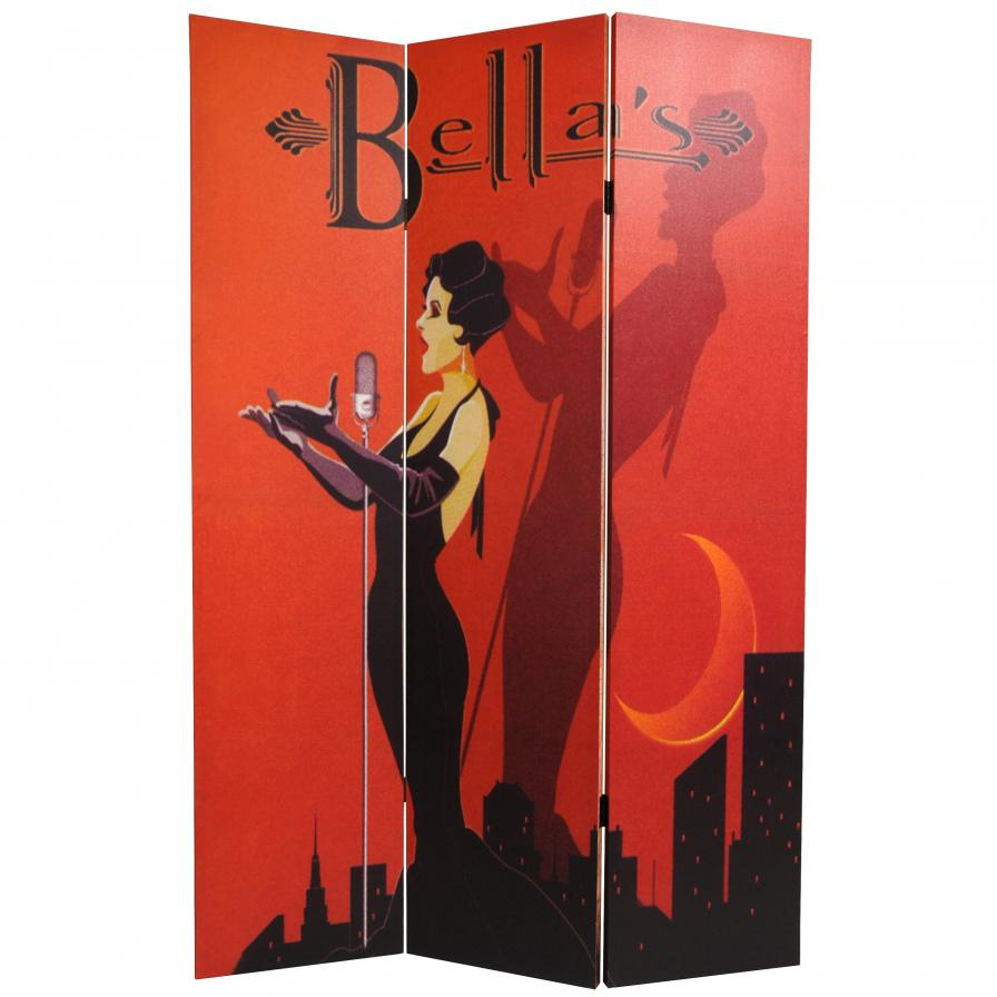 6 ft. Tall Mannequin and Singer Canvas Room Divider