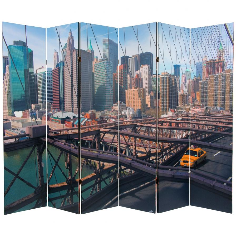 6 ft. Tall Double Sided NY Taxi Room Divider