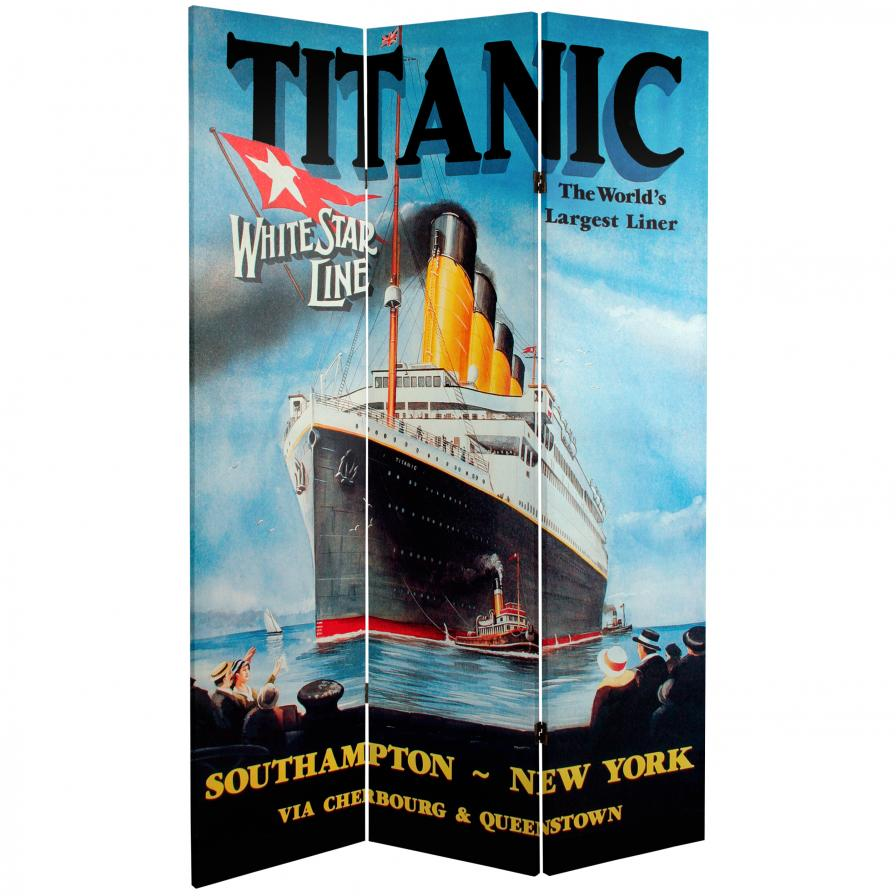 6 ft. Tall Double Sided Titanic/Penn Station Room Divider