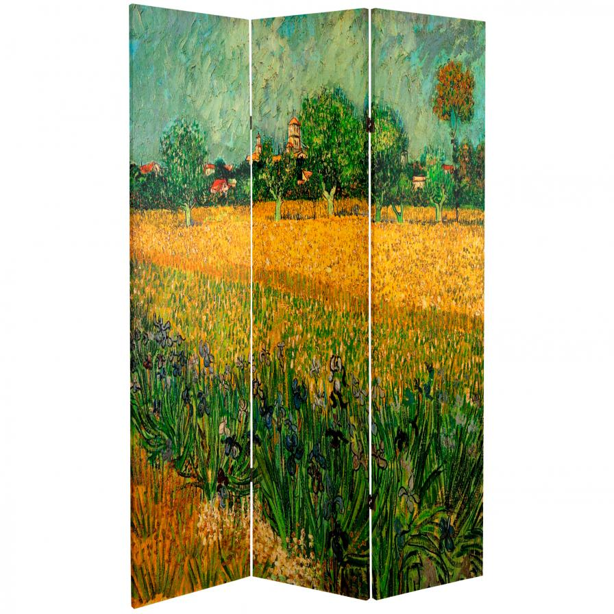 6 ft. Tall Works of Van Gogh Room Divider - Cafe Terrace/View of Arles