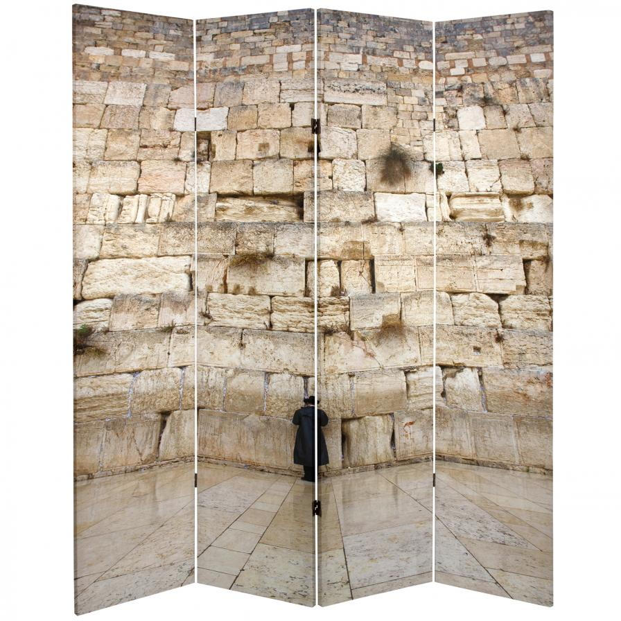 6 ft. Tall Double Sided Wailing Wall Room Divider