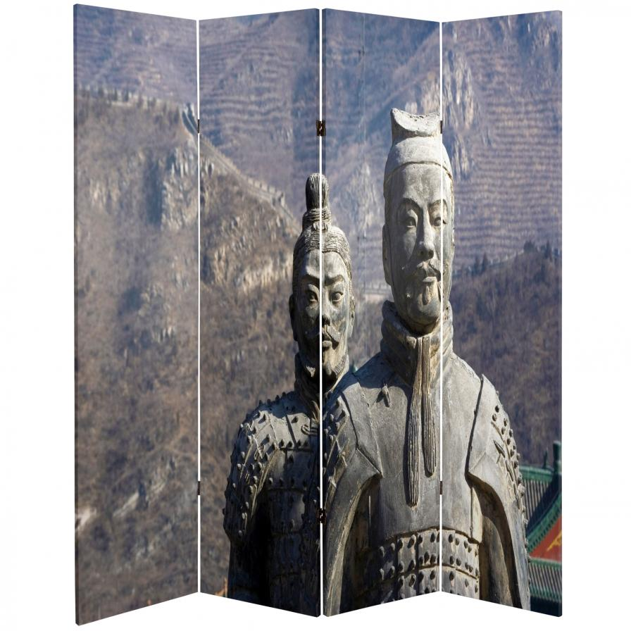 6 ft. Tall Double Sided Great Wall of China Room Divider